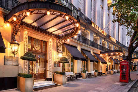 The Waldorf Hilton - Three course dining for two people - Save 63%
