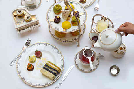 The Waldorf Hilton - Afternoon tea for two people with a bottle of Louis Pommery bubbly - Save 65%