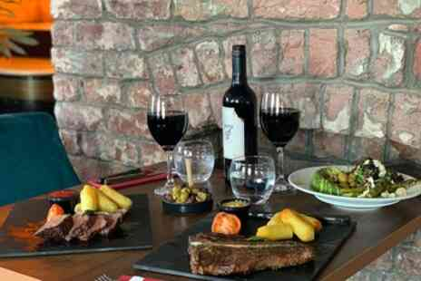 Signature Steakhouse - Two Course Steak Meal with Glass of Wine for Up to Four - Save 51%