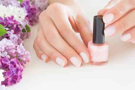 Baby Pink Nail Beauty - Express Shellac Manicure with Optional Deluxe Shellac Pedicure - Save 67%