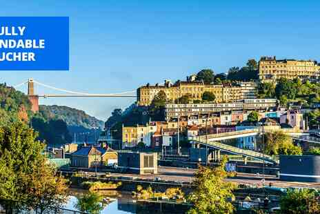 MREf Tradeco - Overnight Bristol stay with dinner & wine - Save 44%