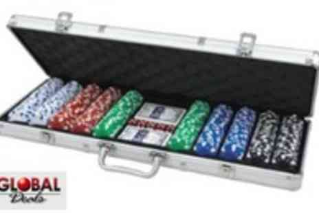 Global Deals - 500 Piece Professional Poker Set with Carry Case - Save 50%