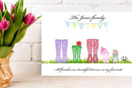 Gallery 51 - Standard or Christmas Personalised Welly Canvas in Choice of Size - Save 72%