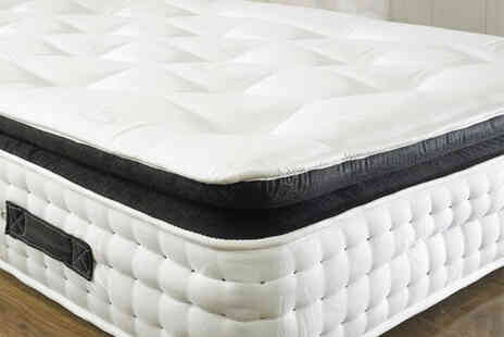 Giomani Designs - Small single pocket spring organic pillow top mattress - Save 70%