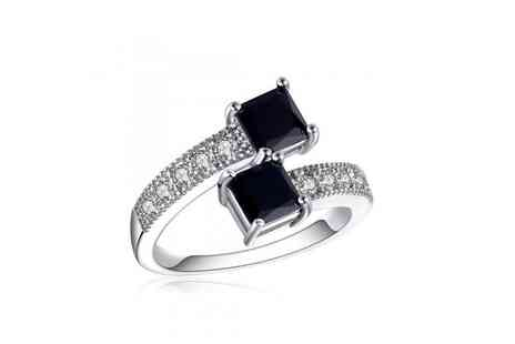 Your Ideal Gift - Black lab created sapphire ring - Save 82%