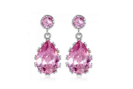 Your Ideal Gift - Sapphire pear cut earrings - Save 88%