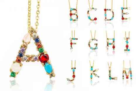 Your Ideal Gift - Personalised initial necklace - Save 85%