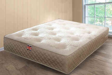 Sleep Softly - Single supreme luxury wool sprung mattress - Save 50%