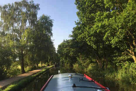 Lancashire Canal Cruises - 90 minute canal cruise for two including afternoon tea and a glass of wine each - Save 19%
