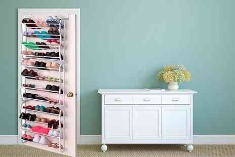 Direct2Public - 36 pair over the door shoe rack - Save 70%