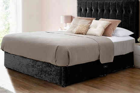 FTA Furnishing - Small single divan crushed bed - Save 0%