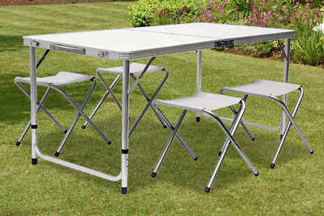 Rainberg - Four foot camping table set - Save 57%