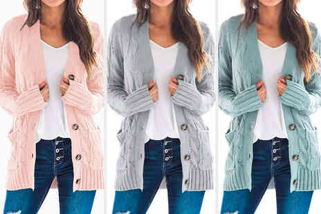 Wishwhooshoffers - Ladies button front cardigan - Save 63%