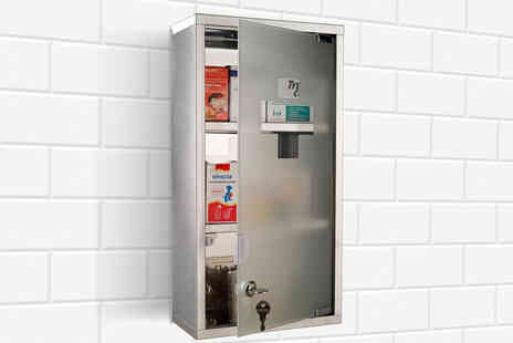 Mhstar - Stainless steel wall mounted lockable medicine cabinet - Save 0%