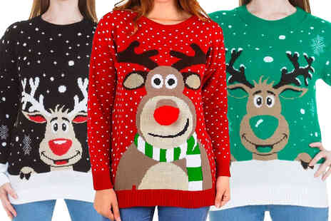 Love My Fashions - Womens Rudolph Christmas jumper - Save 0%