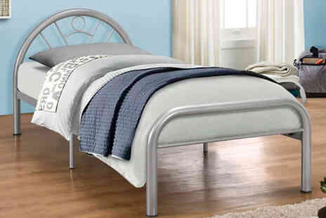 FTA Furnishing - Childrens 3ft single metal curved bed frame - Save 65%
