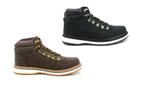 Shoe Fest - Pair of mens lace up boots in black, brown, grey or navy - Save 0%
