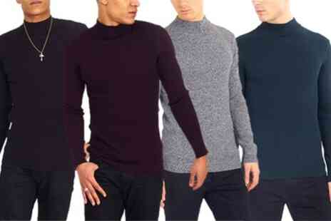 Groupon Goods Global GmbH - Brave Soul Mens Turtleneck Jumper - Save 17%