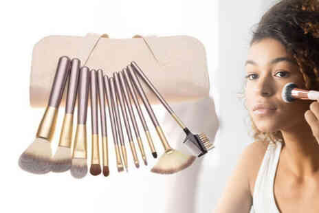 Forever Cosmetics - 12pc Champagne Makeup Brush Set - Save 0%