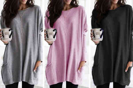 MBLogic - Womens oversized loose knit sweater with pockets - Save 78%