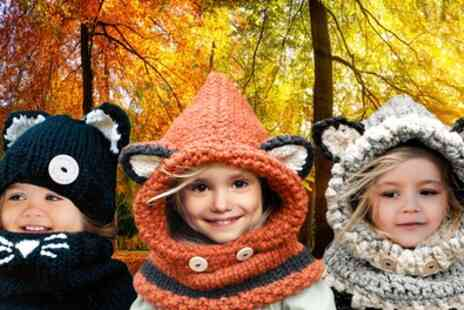 Groupon Goods Global GmbH - Kids Animal Hat and Scarf Sets - Save 63%