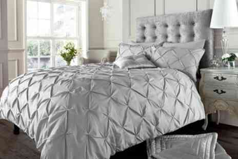 Groupon Goods Global GmbH - Alford Pintuck Duvet Cover Set - Save 76%