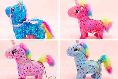 Topgoodchain - Spotted walking toy unicorn - Save 74%