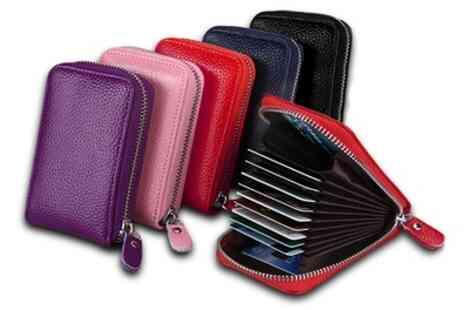 Groupon Goods Global GmbH - 11 Slot RFID Blocking Genuine Leather Card Wallets - Save 83%