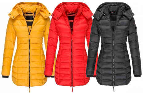 MBLogic - Womens mid length puffa coat - Save 67%