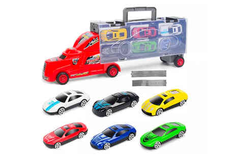 I Nod - Portable truck container with toy cars - Save 0%