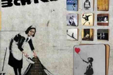 Canvas Town - 10 Banksy Art Coasters - Save 60%