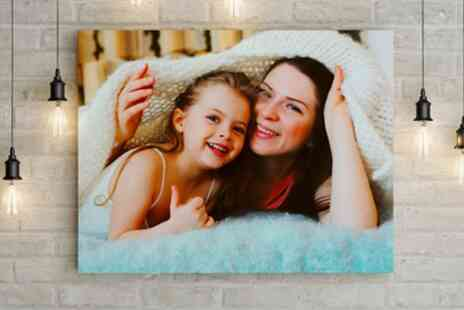 Printerpix - Personalised Collage Photo Canvas in Choice of Size - Save 74%