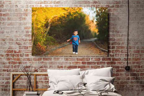Colour House Print - Personalised A2 canvas photo - Save 80%