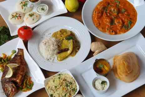 Madras Cafe - Two Course Indian Meal with Side and Soft Drink - Save 44%
