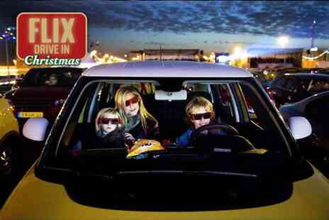 Flix Drive In - Christmas drive in cinema ticket for a car with up to seven people - Save 30%