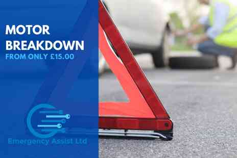 Emergency Assist - Premium one year UK breakdown cover for a car aged 0-10 years - Save 69%