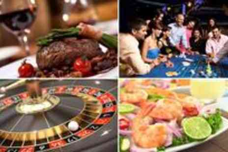 Gala Casino - Starter, main course and glass of wine or pint of Becks for two - Save 68%