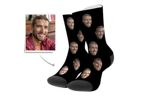 Magic Trend - One pair of customised face socks - Save 77%