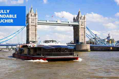 City Cruises PLC - 24 hour hop on, hop off Thames cruise ticket - Save 51%