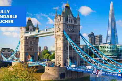 City Cruises PLC - Thames cruise with 2 course lunch or afternoon tea for 2 - Save 28%