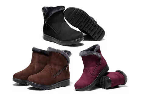 I Nod - Womens waterproof winter ankle boots - Save 73%