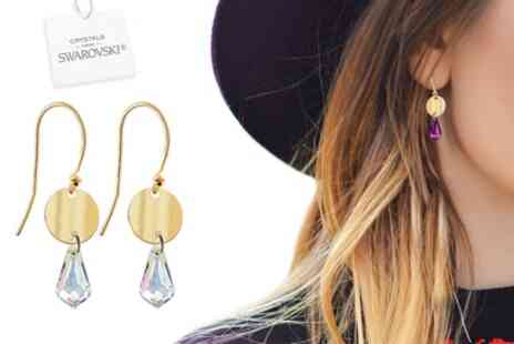 Groupon Goods Global GmbH - Pairs Drop Pendant Earrings Made with Crystals from Swarovski - Save 93%