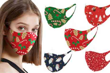Groupon Goods Global GmbH - Up to 20 Christmas Themed Face Masks - Save 0%