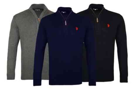 Groupon Goods Global GmbH - US Polo Assn Pullover Half Zip Sweater - Save 0%