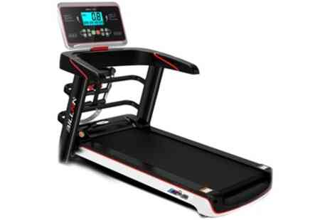 Groupon Goods Global GmbH - Ejogga Billna A6 Foldable Electric Treadmill with LCD Screen and Phone Stand - Save 45%