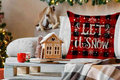 PinkPree - Two Christmas cushion covers - Save 65%
