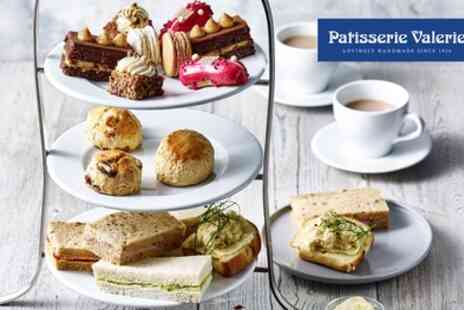 Patisserie Valerie - Standard or Festive Afternoon Tea for Two - Save 24%