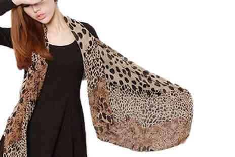 Groupon Goods Global GmbH - Leopard Printed Shawl Scarves - Save 0%
