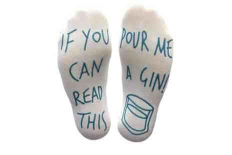 Groupon Goods Global GmbH - If You Can Read This Pour Me a Gin Funny Socks - Save 50%