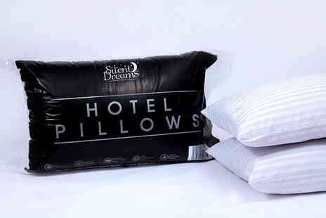 Silent Dreams - Two pack of hotel striped pillows - Save 60%
